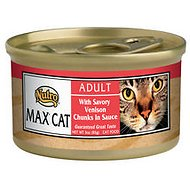 Nutro Max Adult With Savory Venison Chunks in Sauce Canned Cat Food, 3-oz, case of 24