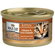 Nutro Max Kitten Chicken & Liver Formula Canned Cat Food, 3-oz, case of 24