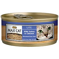 Nutro Max Lite Turkey & Chicken Canned Cat Food, 5.5-oz, case of 24