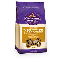 Old Mother Hubbard Classic P-Nuttier Biscuits Baked Dog Treats, Mini, 20-oz bag