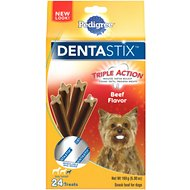 Pedigree Dentastix Mini Beef Dog Treats, 24 count