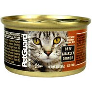 PetGuard Beef & Barley Dinner Canned Cat Food, 3-oz, case of 24