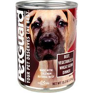 PetGuard Beef & Vegetable & Wheat Germ Dinner Canned Dog Food, 13.2-oz, case of 12