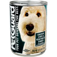 PetGuard Senior Chicken, Liver & Vegetables Dinner Canned Dog Food, 13.2-oz, case of 12