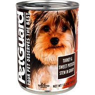 PetGuard Turkey & Sweet Potato Stew in Gravy Grain-Free Canned Dog Food, 13.2-oz, case of 12