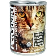 PetGuard Organic Chicken & Vegetable Formula Canned Cat Food, 12.7-oz, case of 12