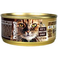 PetGuard Beef & Wheat Germ Dinner Canned Cat Food, 5.5-oz, case of 24
