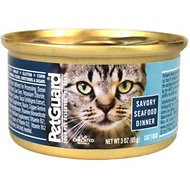 PetGuard Savory Seafood Dinner Canned Cat Food, 3-oz, case of 24