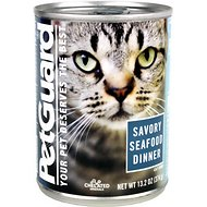 PetGuard Savory Seafood Dinner Canned Cat Food, 13.2-oz, case of 12
