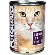 PetGuard Turkey & Rice Dinner Canned Cat Food, 13.2-oz, case of 12