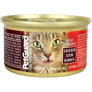 PetGuard Weight Management Chicken Stew Dinner Canned Cat Food, 3-oz, case of 24
