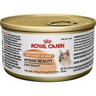 Royal Canin Intense Beauty Thin Slices in Gravy Canned Cat Food, 3-oz, case of 24
