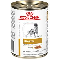 Royal Canin Veterinary Diet Urinary SO Moderate Calorie Morsels in Gravy Canned Dog Food, 12.7-oz, case of 24