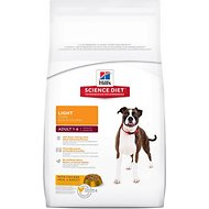 Hill's Science Diet Adult Light Dry Dog Food, 17.5-lb bag