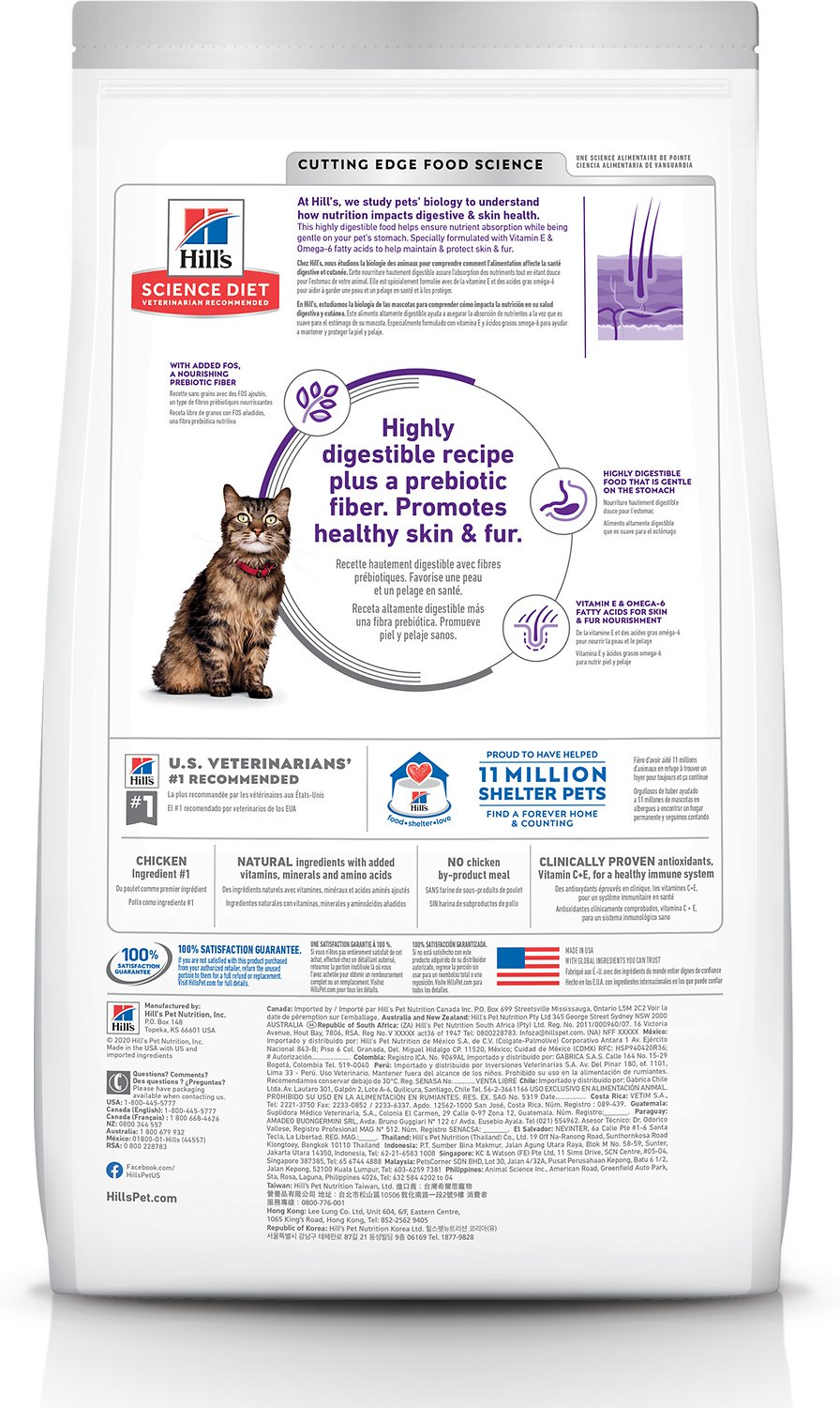 Hill S Science Diet Adult Sensitive Stomach Amp Skin Dry Cat