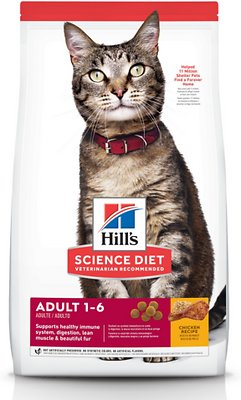 Hills Science Diet Adult Optimal Care Chicken Recipe Dry Cat Food