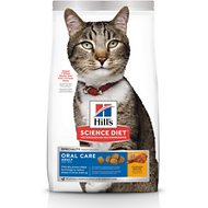 Hill's Science Diet Adult Oral Care Dry Cat Food, 7-lb bag