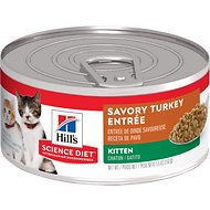 Hill's Science Diet Kitten Savory Turkey Entree Canned Cat Food, 5.5-oz, case of 24