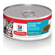Hill's Science Diet Adult Indoor Ocean Fish Entree Canned Cat Food, 5.5-oz, case of 24