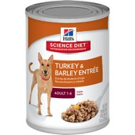 Hill's Science Diet Adult Turkey & Barley Entree Canned Dog Food, 13-oz, case of 12