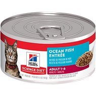 Hill's Science Diet Adult Ocean Fish Entree Canned Cat Food, 5.5-oz, case of 24