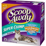 Scoop Away Super Clump Scented Cat Litter, 25-lb box