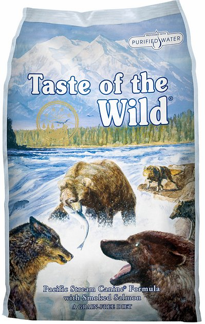 Taste Of The Wild Dog Food Reviews >> Taste of the Wild Pacific Stream Grain-Free Dry Dog Food, 30-lb bag - Chewy.com