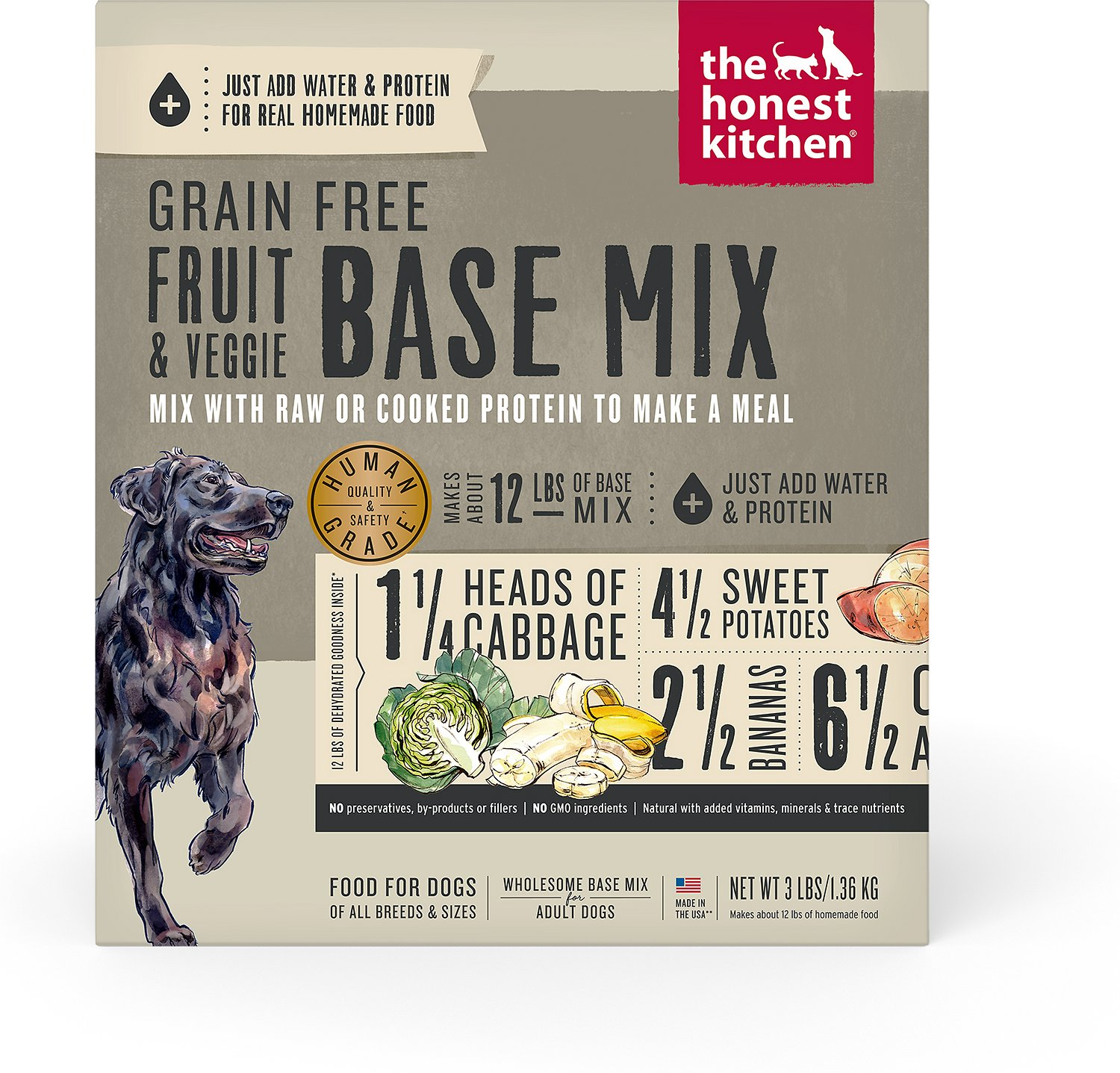 The Honest Kitchen Preference Grain Free Dehydrated Dog Base Mix 3 Lb Box
