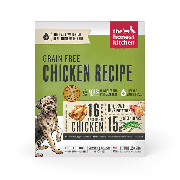 The Honest Kitchen Force Grain Free Dehydrated Dog Food 10 Lb Box