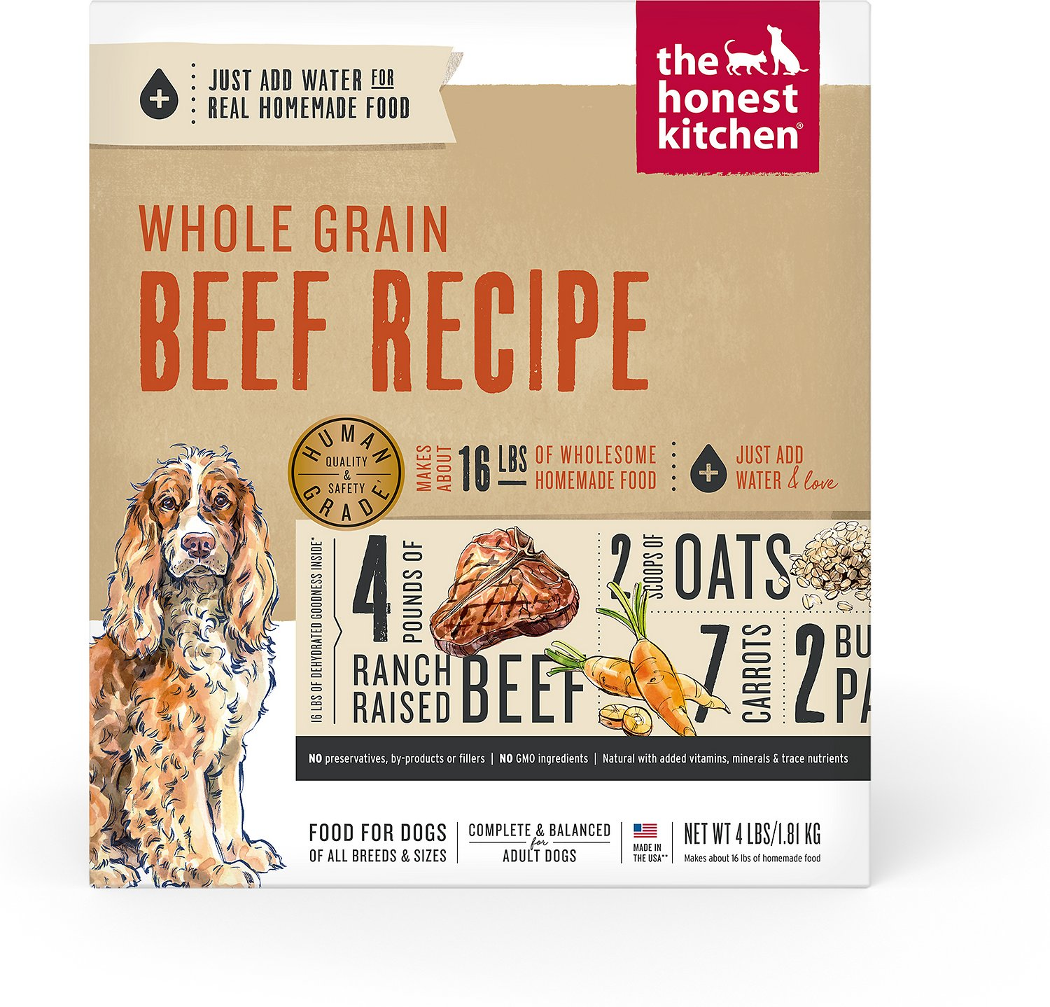 The Honest Kitchen Verve Dehydrated Dog Food 4 Lb Box