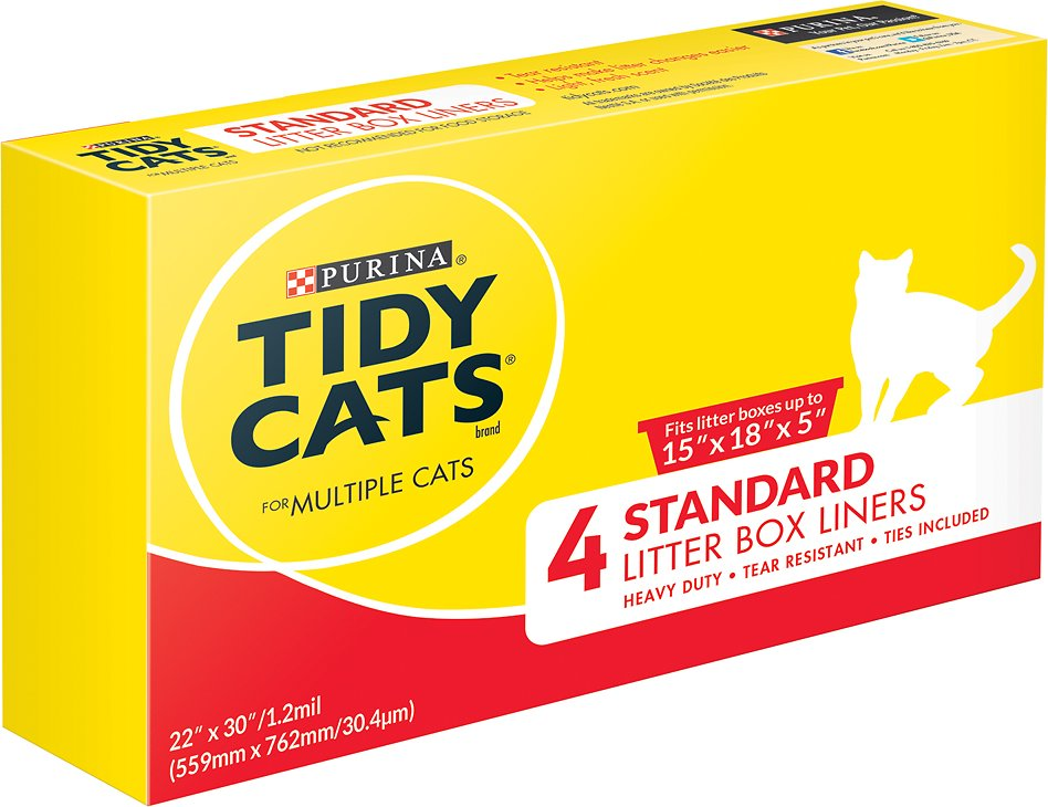 Tidy Cats Standard Litter Box Liners For Multiple Cats