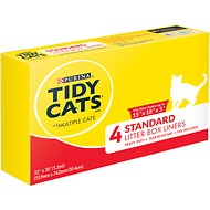 Tidy Cats Standard Litter Box Liners for Multiple Cats (Box of 4)