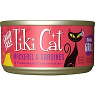 Tiki Cat Makaha Grill Mackerel & Sardine in Calamari Consomme Grain-Free Canned Cat Food, 2.8-oz, case of 12