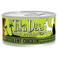 Tiki Dog Kauai Luau Succulent Chicken on Brown Rice with Tiger Prawns Canned Dog Food, 2.8-oz, case of 12