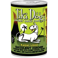Tiki Dog Kauai Luau Succulent Chicken on Brown Rice with Tiger Prawns Canned Dog Food, 14-oz, case of 12