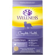 Wellness Complete Health Healthy Weight Deboned Chicken & Peas Recipe Dry Dog Food, 26-lb bag
