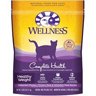 Wellness Complete Health Healthy Weight Deboned Chicken, Chicken Meal & Whitefish Meal Recipe Dry Cat Food, 2.5-lb bag
