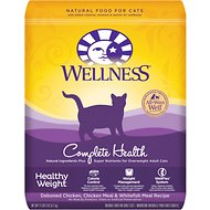 Wellness Complete Health Healthy Weight Deboned Chicken, Chicken Meal & Whitefish Meal Recipe Dry Cat Food, 11.5-lb bag