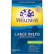 Wellness Large Breed Complete Health Adult Deboned Chicken & Brown Rice Recipe Dry Dog Food, 15-lb bag