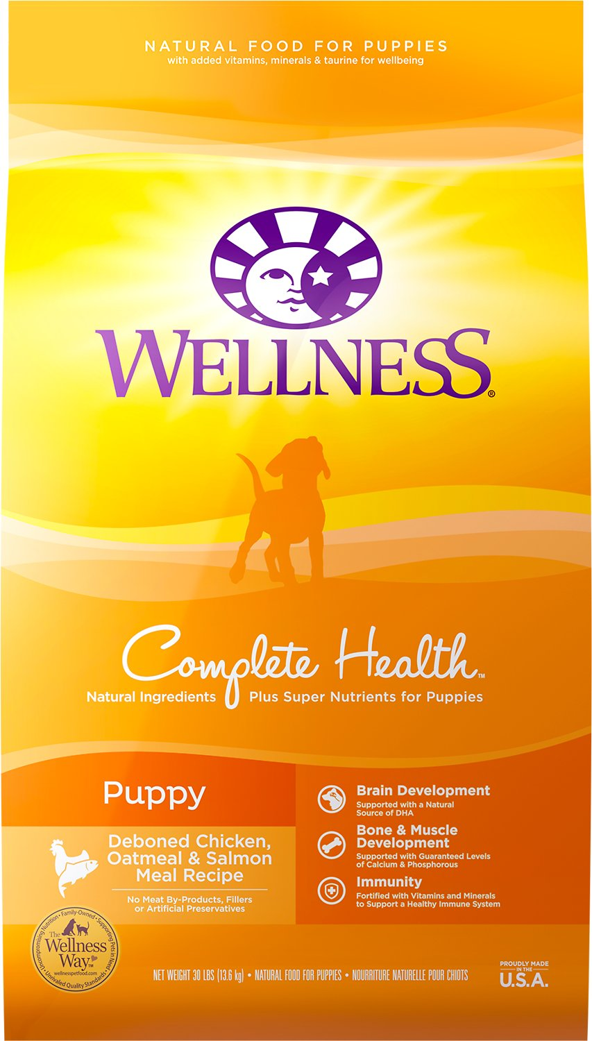 Wellness Complete Health Puppy Deboned Chicken Oatmeal Salmon