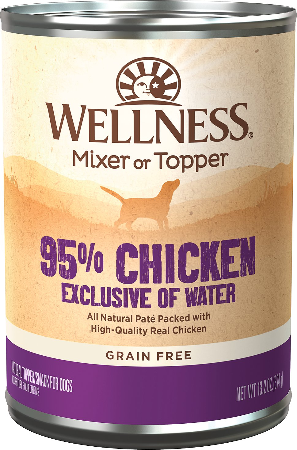 Wellness 95 Chicken Grain Free Canned Dog Food 13 2 Oz