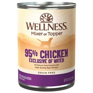 Wellness Ninety-Five Percent Chicken Grain-Free Canned Dog Food, 13.2-oz, case of 12