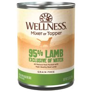 Wellness Ninety-Five Percent Lamb Grain-Free Canned Dog Food, 13.2-oz, case of 12