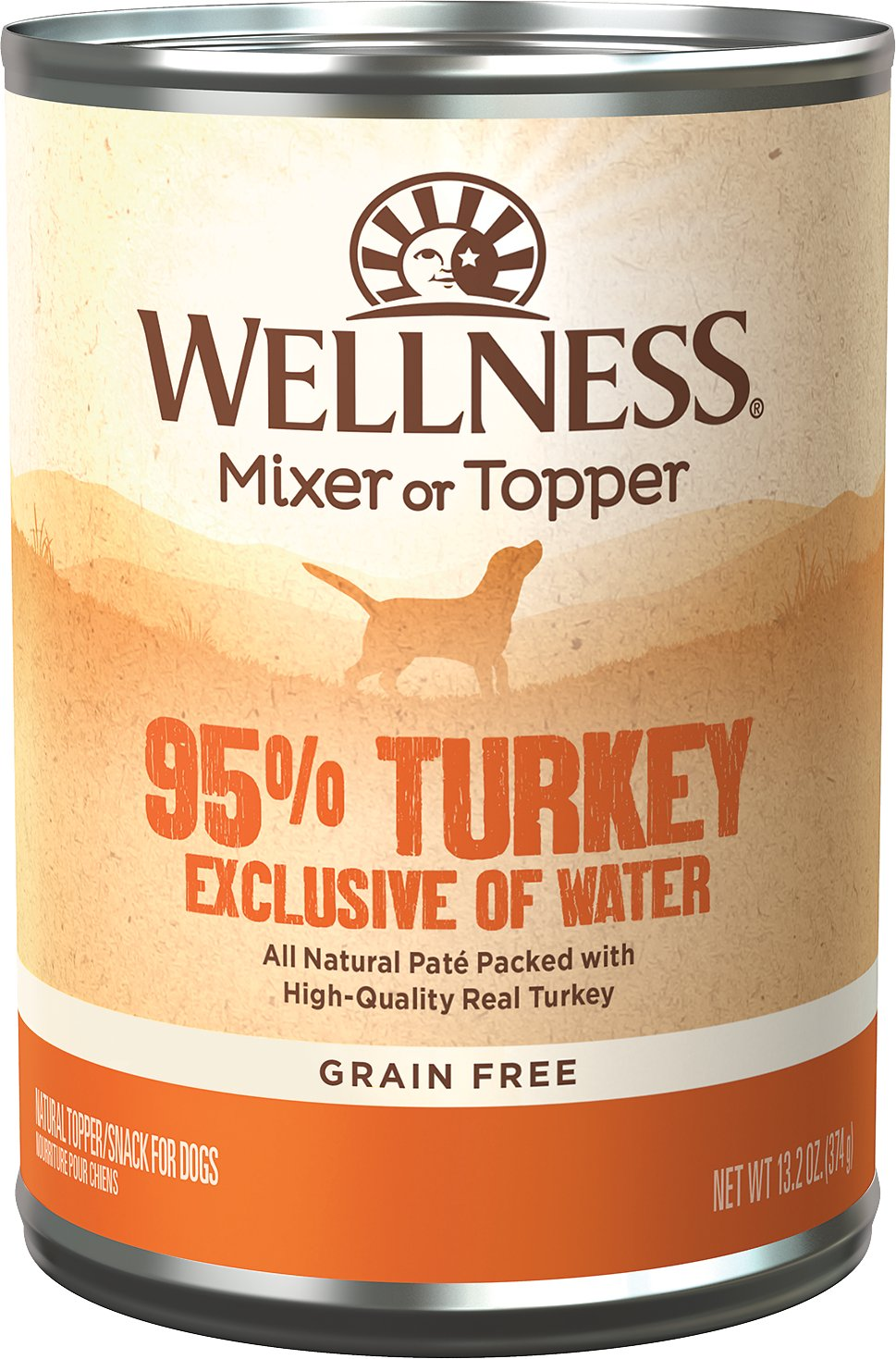 Wellness Ninety-Five Percent Turkey Grain-Free Canned Dog ...