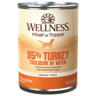 Wellness Ninety-Five Percent Turkey Grain-Free Canned Dog Food, 13.2-oz, case of 12