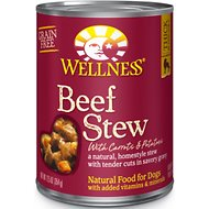 Wellness Beef Stew with Carrots & Potatoes Grain-Free Canned Dog Food, 12.5-oz, case of 12