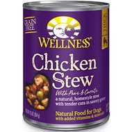 Wellness Chicken Stew with Peas & Carrots Canned Dog Food, 12.5-oz, case of 12