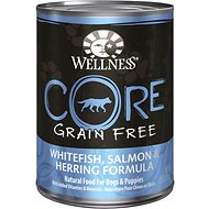 Wellness CORE Grain-Free Whitefish, Salmon & Herring Formula Canned Dog Food, 12.5-oz, case of 12