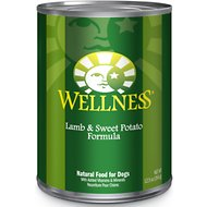 Wellness Complete Health Lamb & Sweet Potato Formula Canned Dog Food, 12.5-oz, case of 12