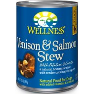 Wellness Venison & Salmon Stew with Potatoes & Carrots Canned Dog Food, 12.5-oz, case of 12